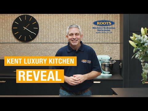 Black and Brass kitchen design with amazing worktop detail