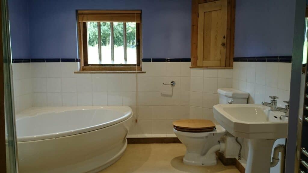 Photo of original bathroom