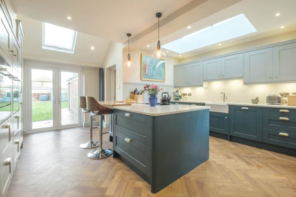 Photo of Bespoke luxury kitchen designed, supplied and installed by Roots Kitchens Bedrooms Bathrooms